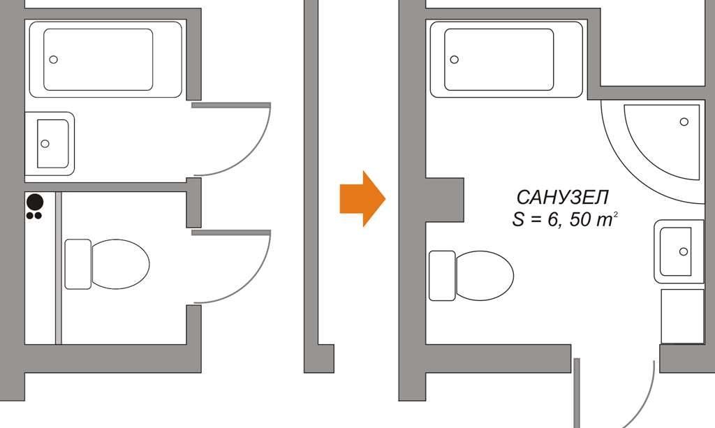 Возможные способы расширения площади помещения