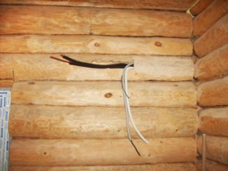 Открытая проводка в деревянных домах